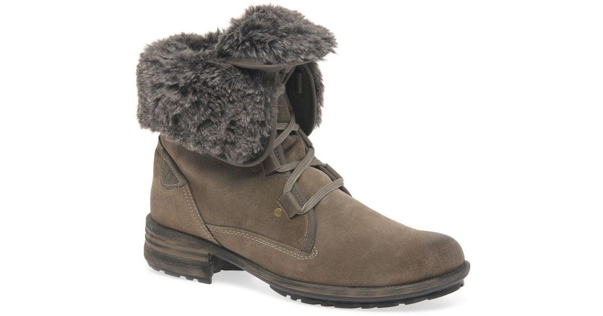 54d48cb2fab64 Lyst - Josef Seibel Sandra 04 Fur Lined Womens Ankle Boots in Gray