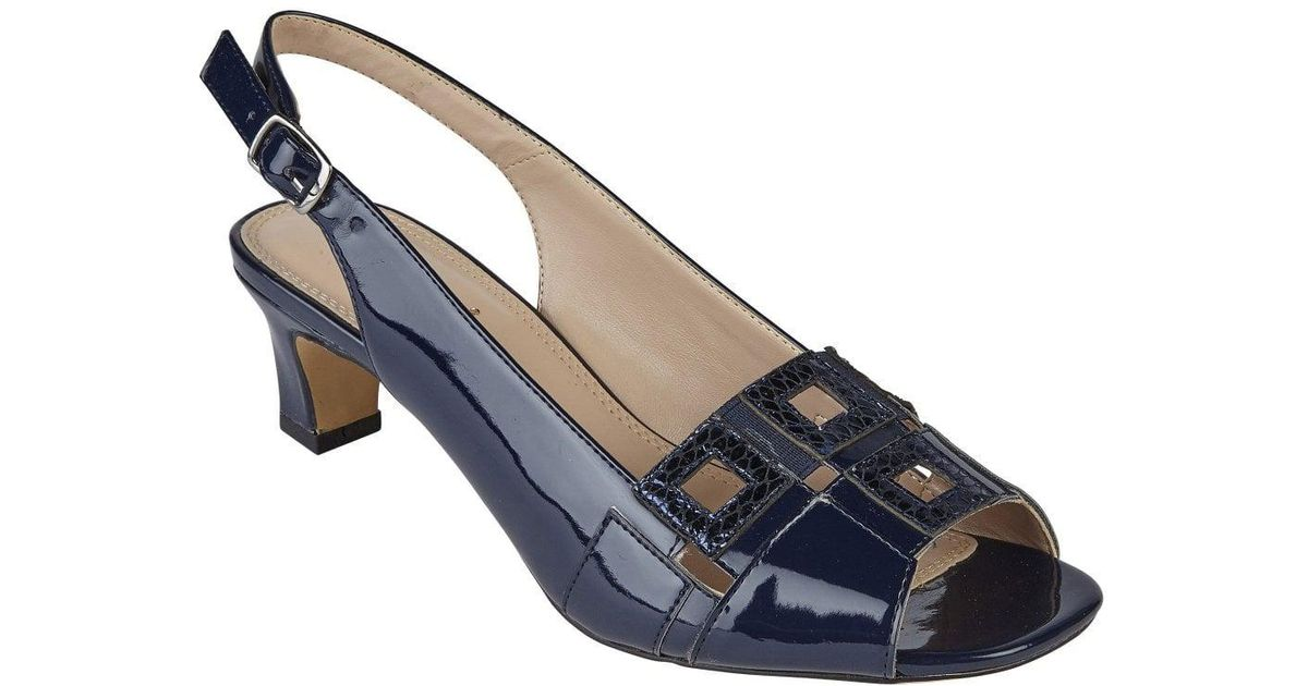 e7cac79f43708 Lotus Aubrey Womens Peep Toe Sling Back Shoes in Blue - Lyst