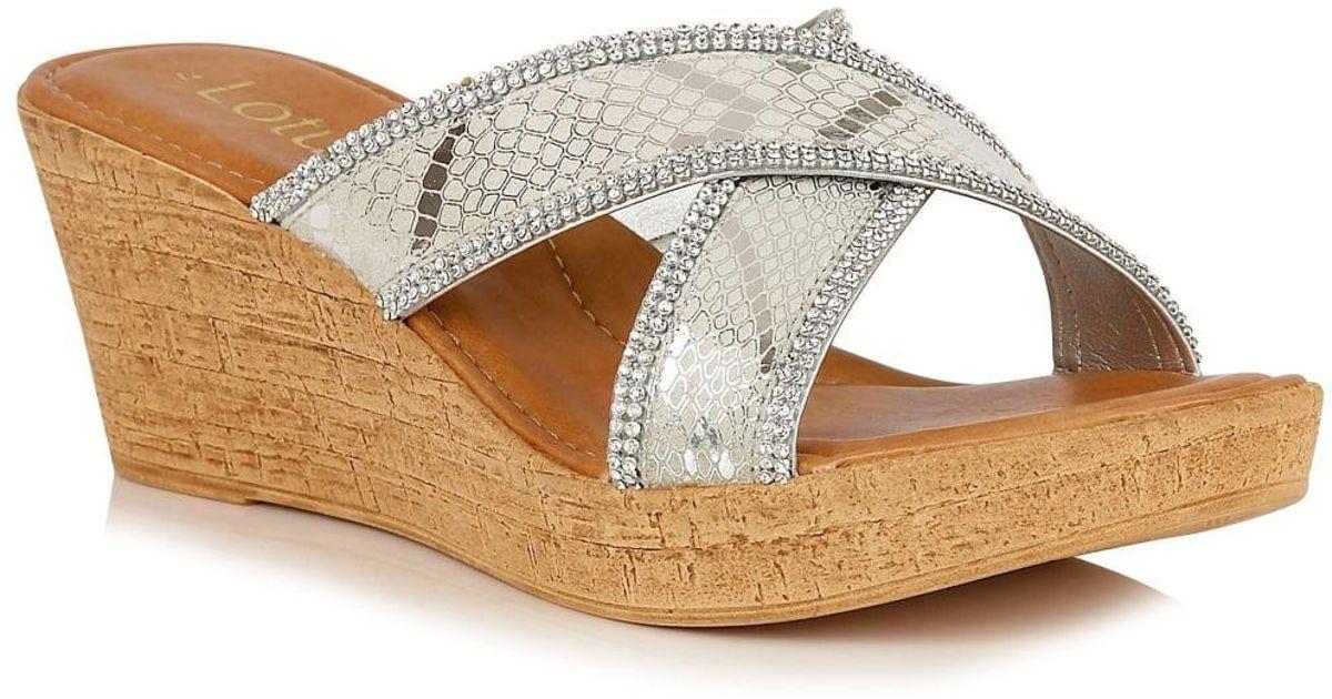02fe44e309675 Lotus Arika Womens Wedge Heel Sandals - Lyst