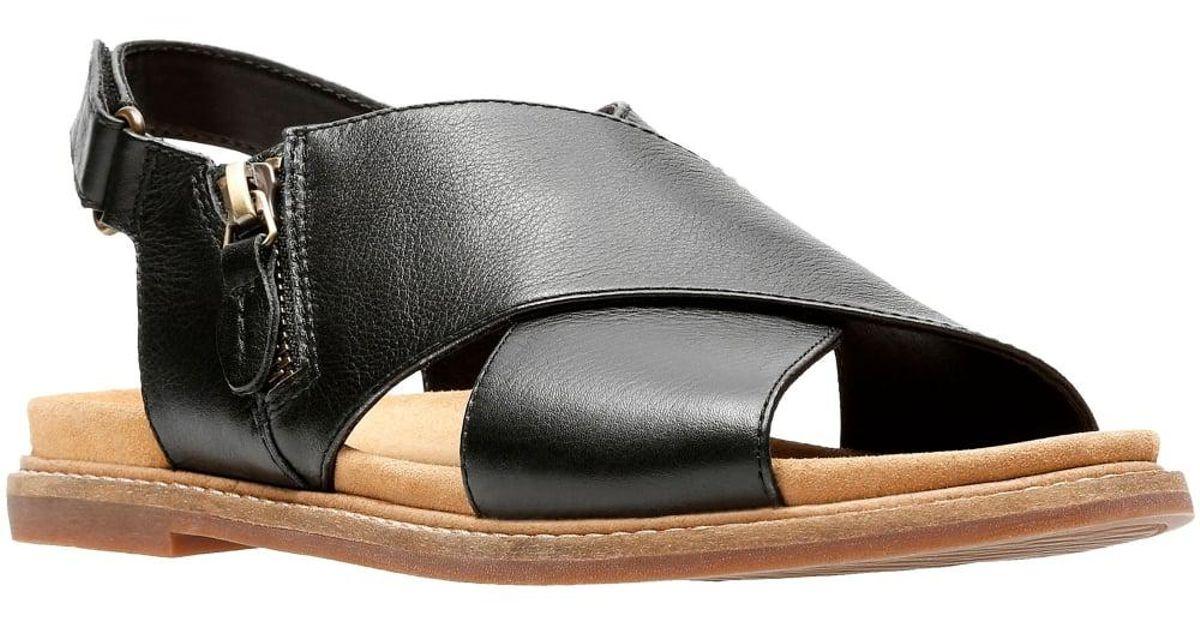 84324694401f Lyst - Clarks Corsio Calm Womens Slingback Sandal in Black