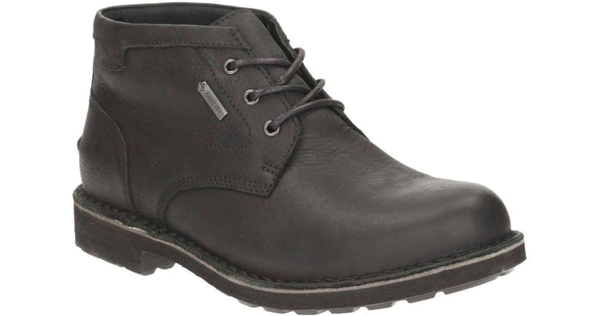 9f43ce38569 Clarks - Black Lawes Mid Gtx Mens Casual Boots for Men - Lyst
