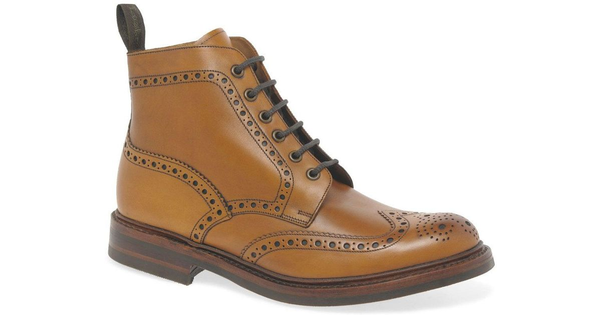 dd8fd201720c5 Lyst - Loake Bedale Men s Lace Up Brogue Boots in Brown for Men