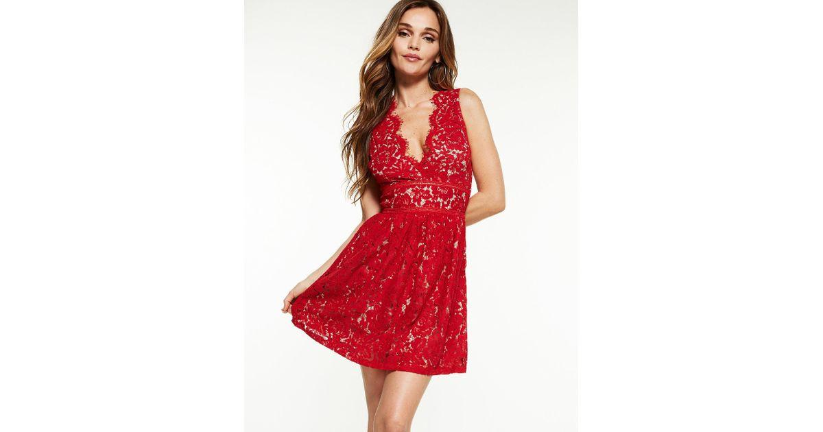 Red Floral Skater Dress  Floral flare dress skater dress teen ... 6fc8107b9