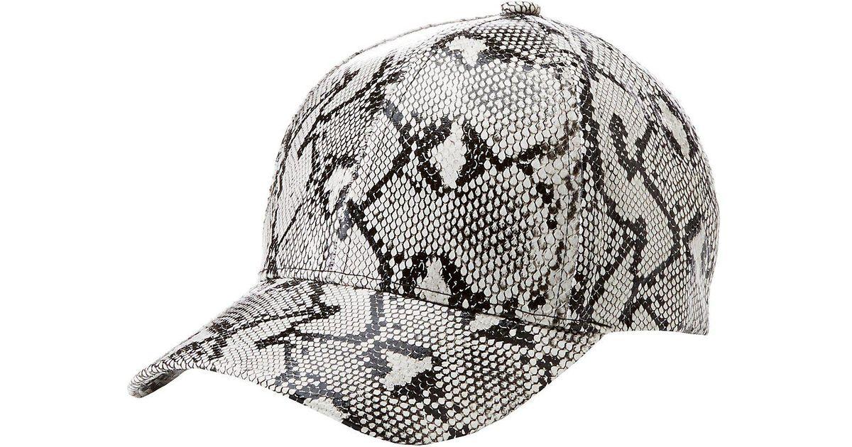 Lyst - Charlotte Russe Faux Snakeskin Baseball Hat for Men 59712753f93
