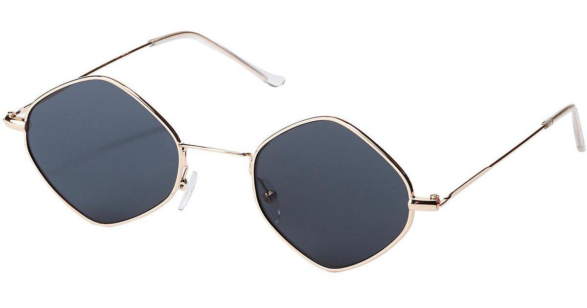 Lyst - Charlotte Russe Small Metal Diamond Frame Sunglasses in Metallic