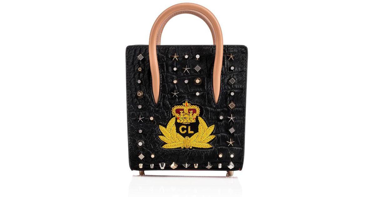 Lyst - Christian Louboutin Paloma Nano Tote Bag in Black ce4f6ebe173d7