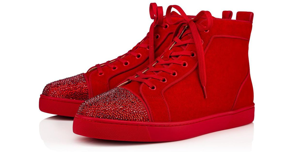 8665b63f8590 Lyst - Christian Louboutin Louis P Strass Men s Flat in Red for Men