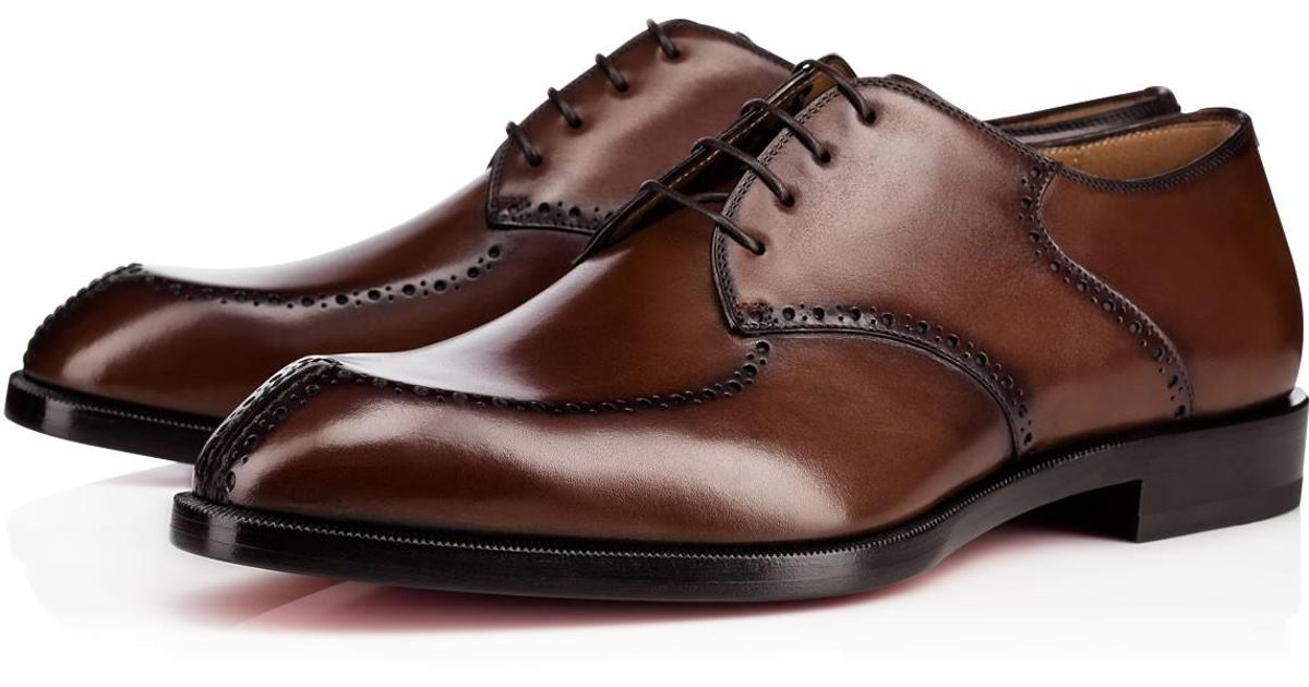 1f061571864 Lyst - Christian Louboutin A Mon Homme Flat in Brown for Men