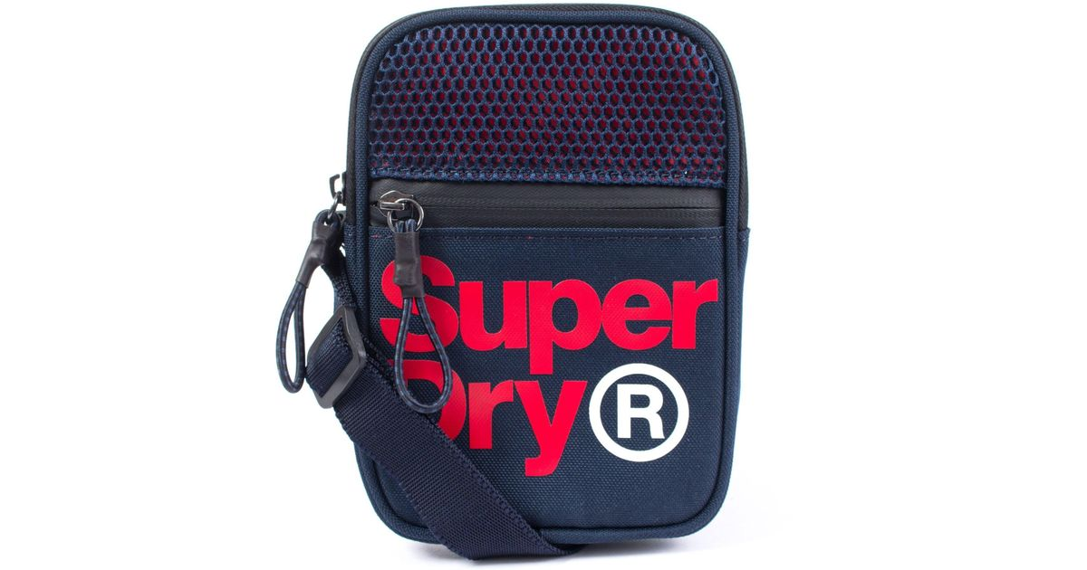 f77233f93 Superdry Lineman Sport Pouch in Blue for Men - Lyst