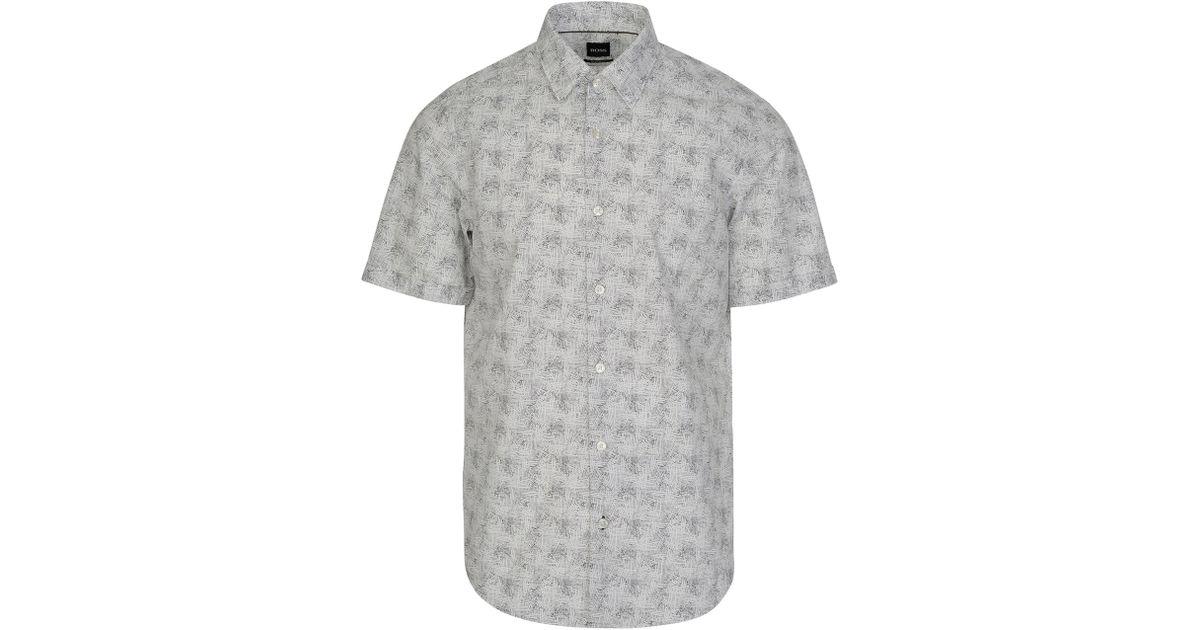 d5d392f08 BOSS Hugo Luka Linen Shirt in White for Men - Lyst