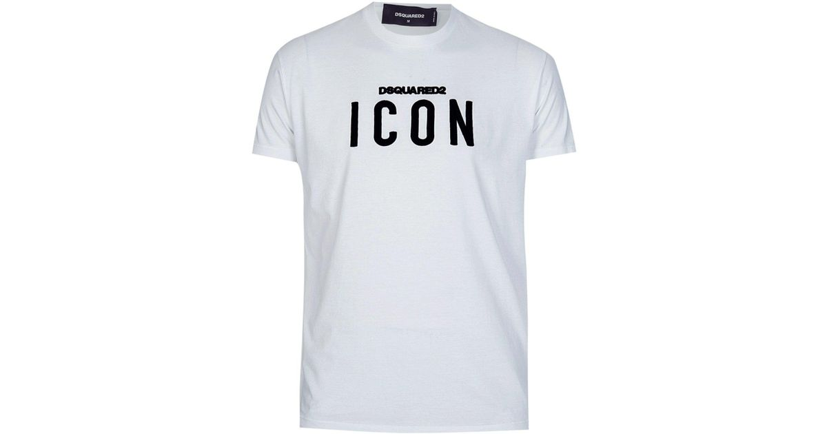 37d38e630612c8 DSquared² Icon T-shirt in White for Men - Lyst