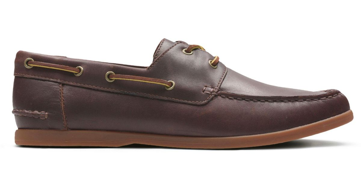 Super discount premium selection new design Clarks Brown Morven Sail for men