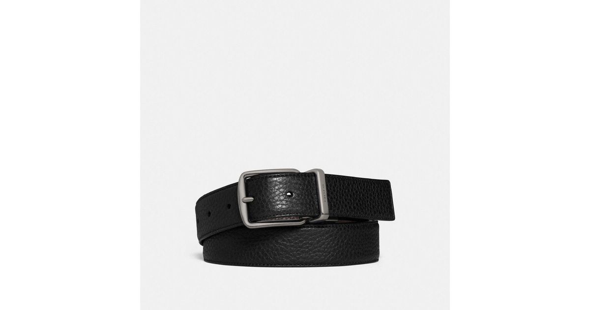 8c004b0a0c48 Lyst - COACH Regular Harness Cut-to-size Reversible Belt in Black for Men