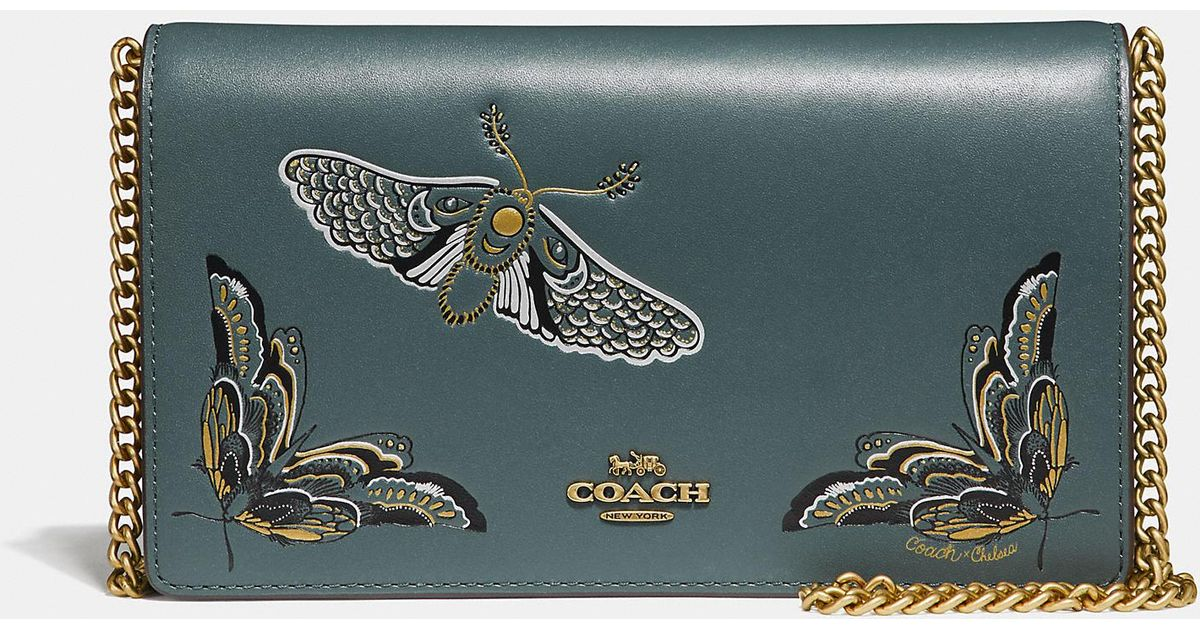 bd50a72733 COACH - Multicolor Callie Foldover Chain Clutch With Tattoo - Lyst