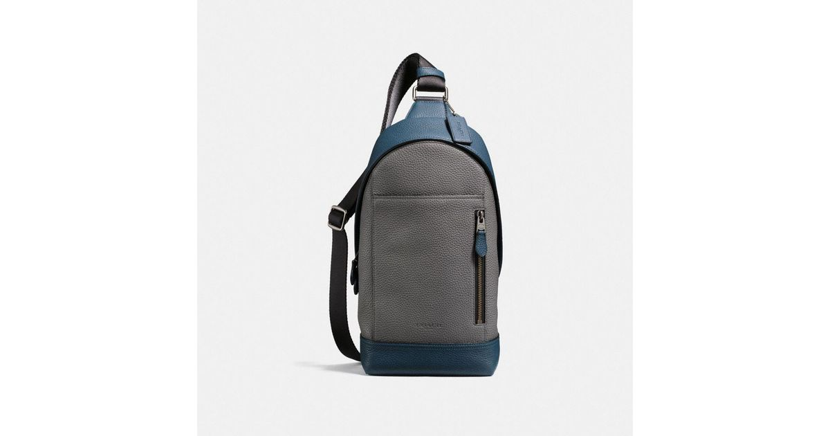 06b16a47a6 Lyst - COACH Manhattan Sling Pack In Colorblock in Black for Men