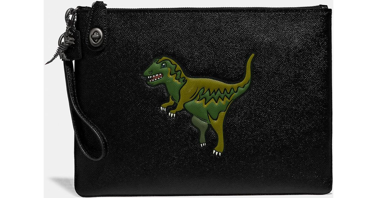 185e9dff3d COACH - Black Turnlock Pouch With Rexy for Men - Lyst