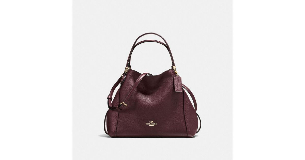 d558d7fbf0 ... promo code for lyst coach edie shoulder bag 28 in polished pebble  leather in black f03e9
