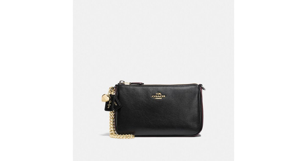 0c48d9cb4c4c discount coach crossgrain leather corner zip wristlet black f58032 bd4e2  26503  uk lyst coach selena wristlet 19 in colorblock in black df15f 68a74
