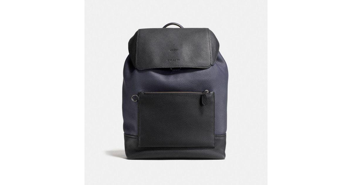 COACH Manhattan Backpack In Colorblock Leather in Blue for Men - Lyst 4cf41f64da1dc
