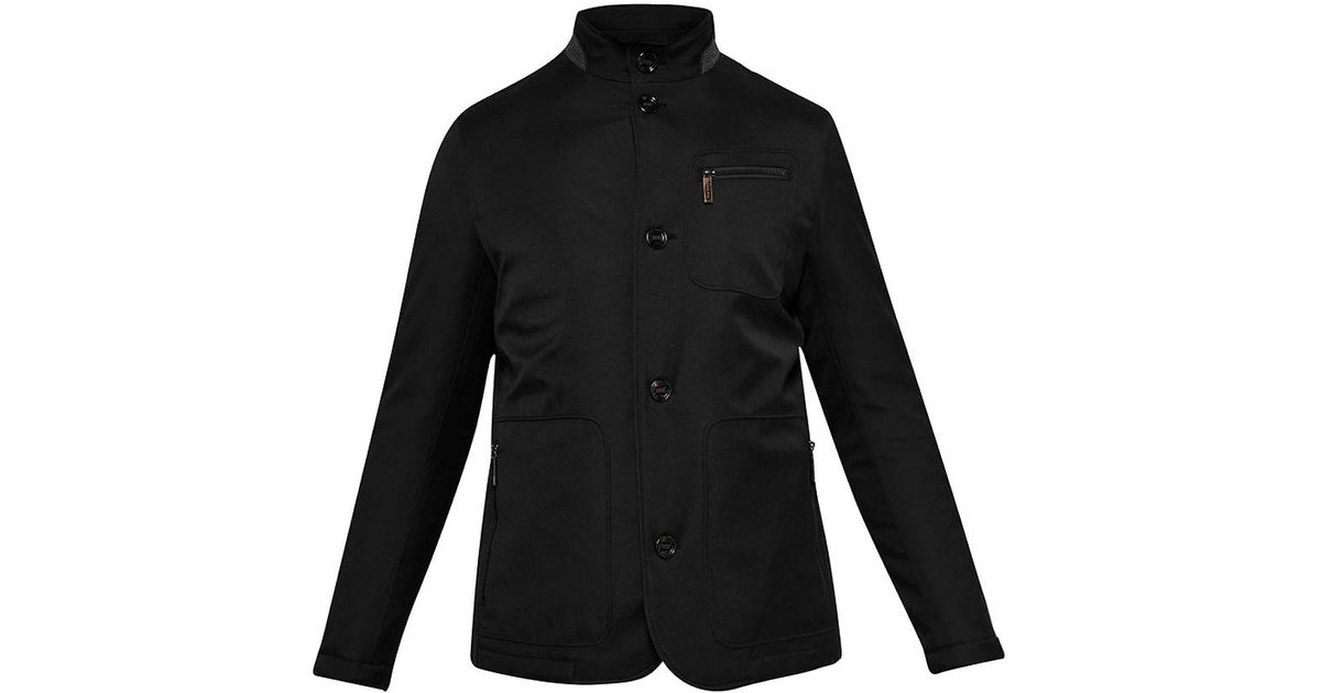 99ab8aeb37cc4c Lyst - Ted Baker Romeo Funnel Neck Padded Jacket With Removable Inner in  Black for Men