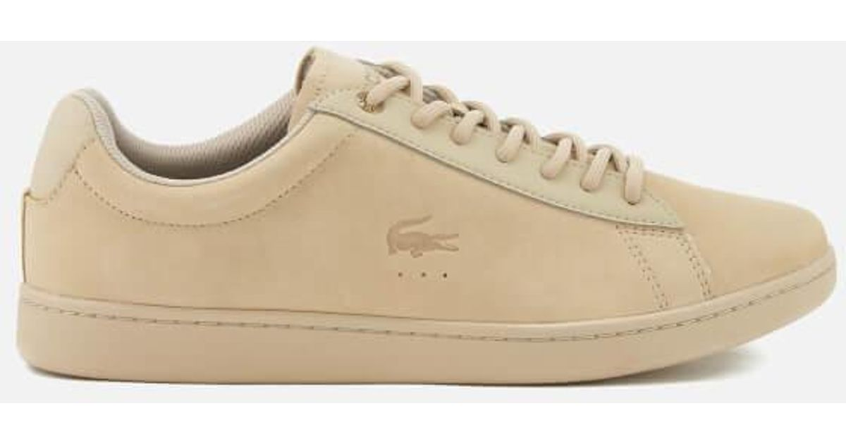 db07f5db95f5 Lacoste Men s Carnaby Evo 118 1 Spm Nubuck Cupsole Trainers for Men - Lyst