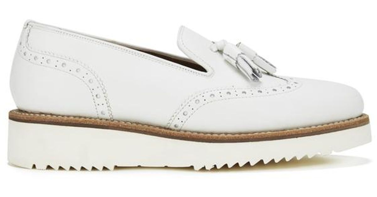 38d6857c89c Grenson Women s Kat Leather Tassel Loafers in White - Lyst