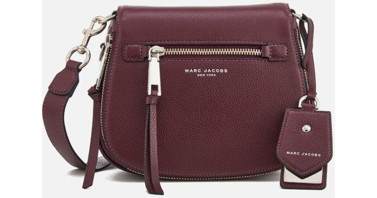 Lyst - Marc Jacobs Women s Recruit Small Nomad Shoulder Bag in Purple 53669578a