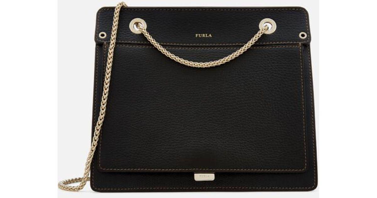 f4f1d815 Furla Women's Like Small Chain Cross Body Bag in Black - Lyst