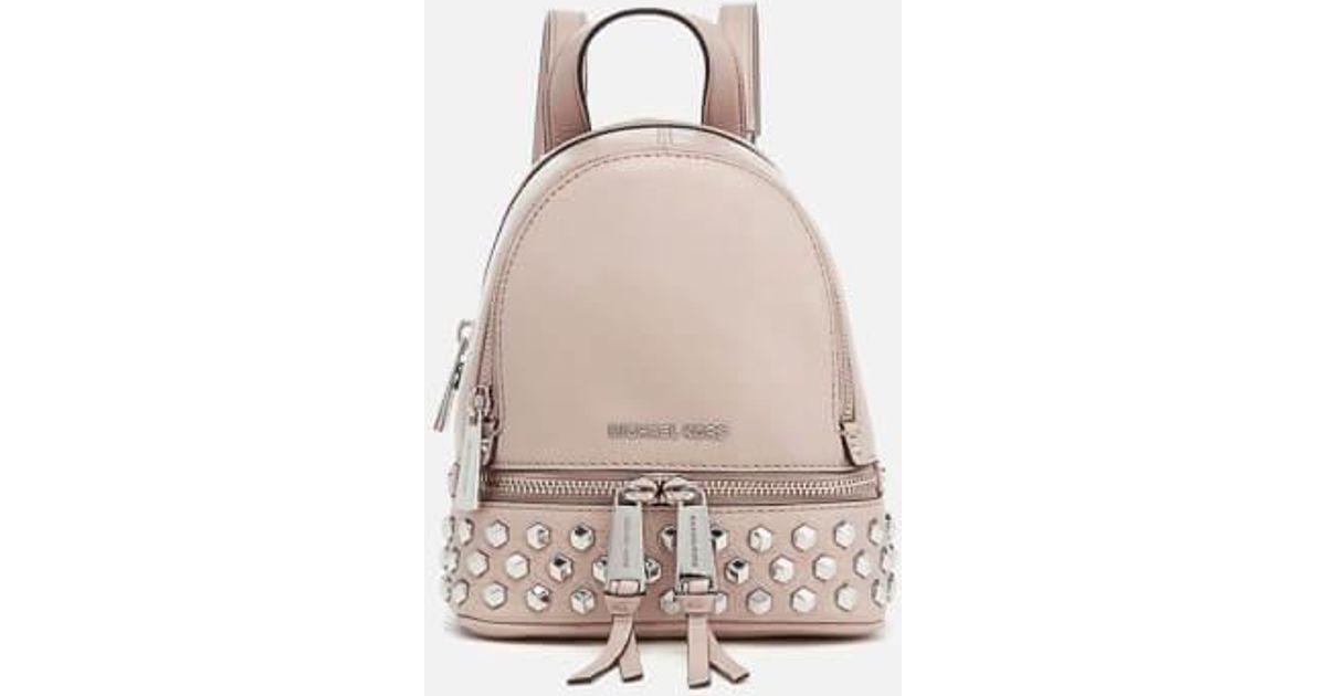 e8c8f7c0d228 MICHAEL Michael Kors Women's Rhea Zip Studded Xs Messenger Backpack - Lyst