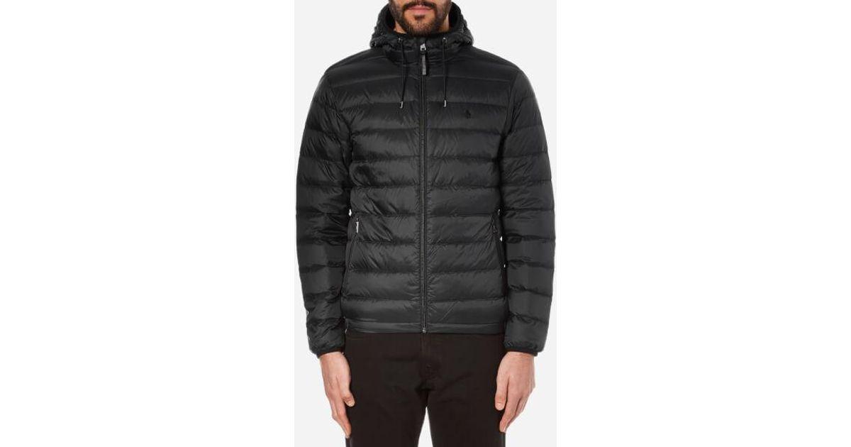 4004a3335c6f Lyst - Polo Ralph Lauren Men s Lightweight Down Jacket in Black for Men