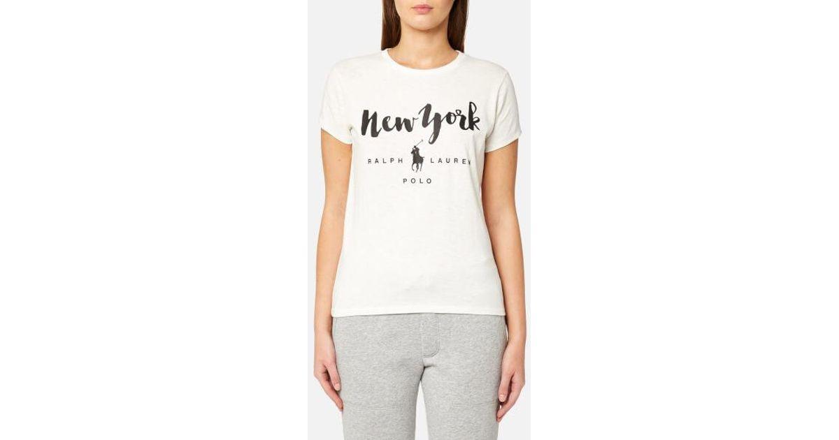 Ralph Lauren City Laukku : Polo ralph lauren women s city tshirt in white lyst