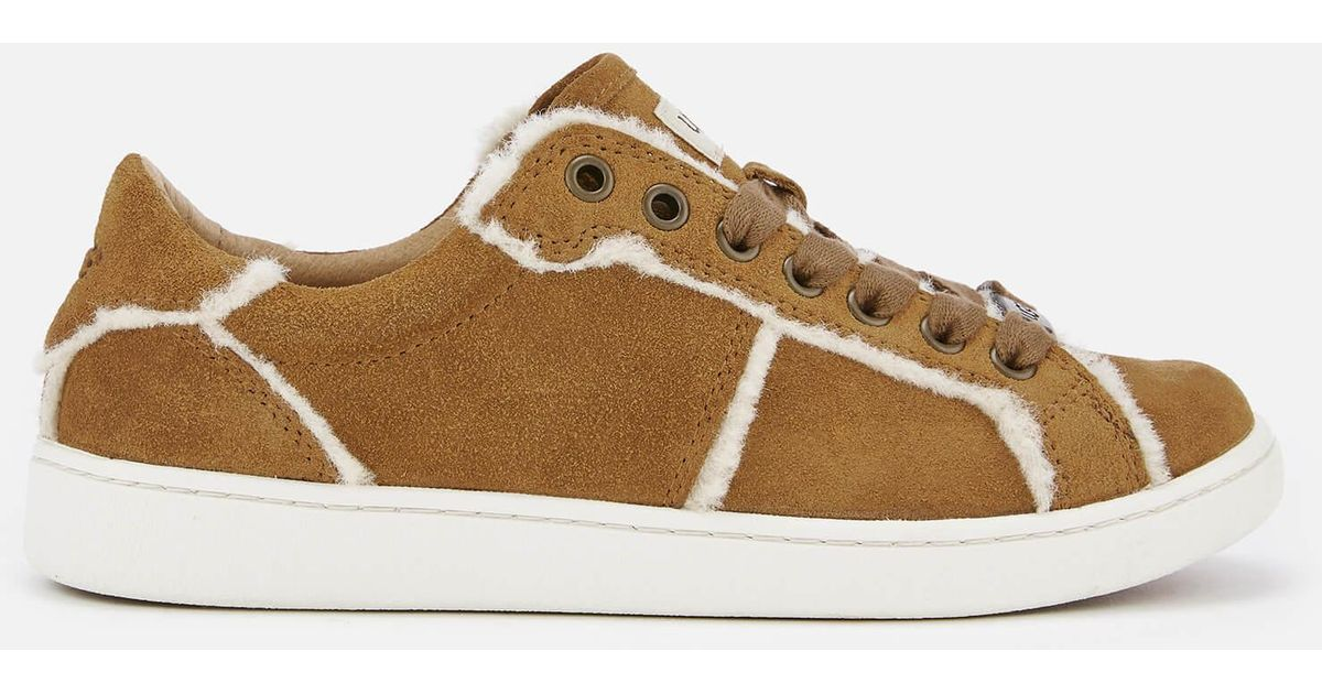 2ee1834490d Ugg - Brown Milo Spill Seam Suede Trainers - Lyst