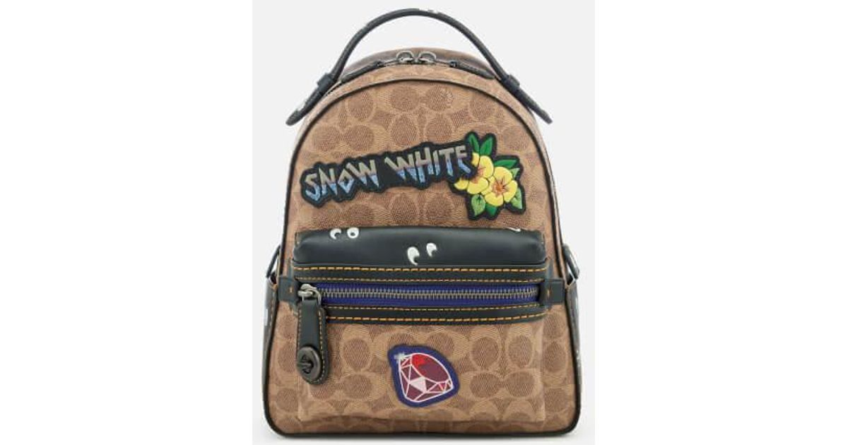 5567727e92 Lyst - COACH Women s Disney X Coach Coated Canvas Snow White Campus  Backpack 23 in White