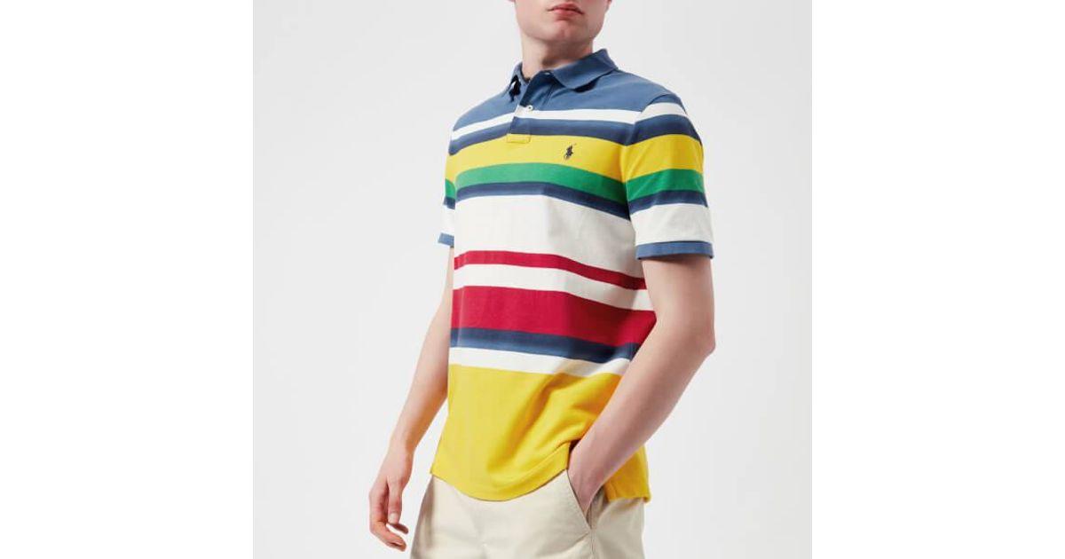 bccdb137bbf Polo Ralph Lauren Men's Stripe Polo Shirt for Men - Lyst