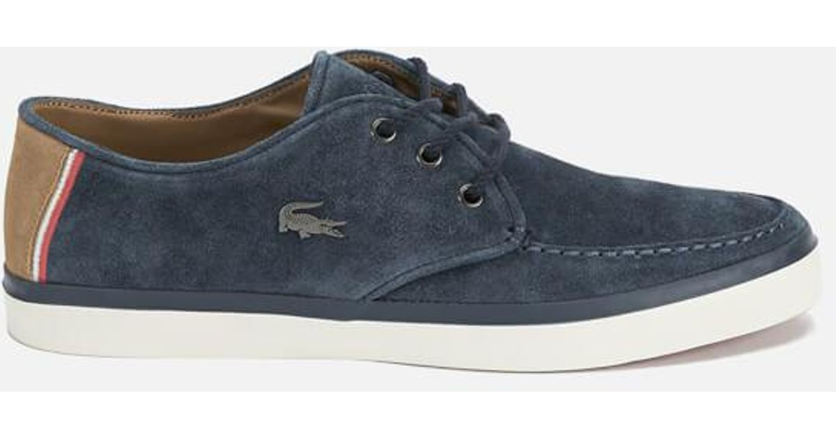 7f27a97cec9a9 Lyst - Lacoste Men s Sevrin 7 Suede Lace Up Shoes in Blue for Men