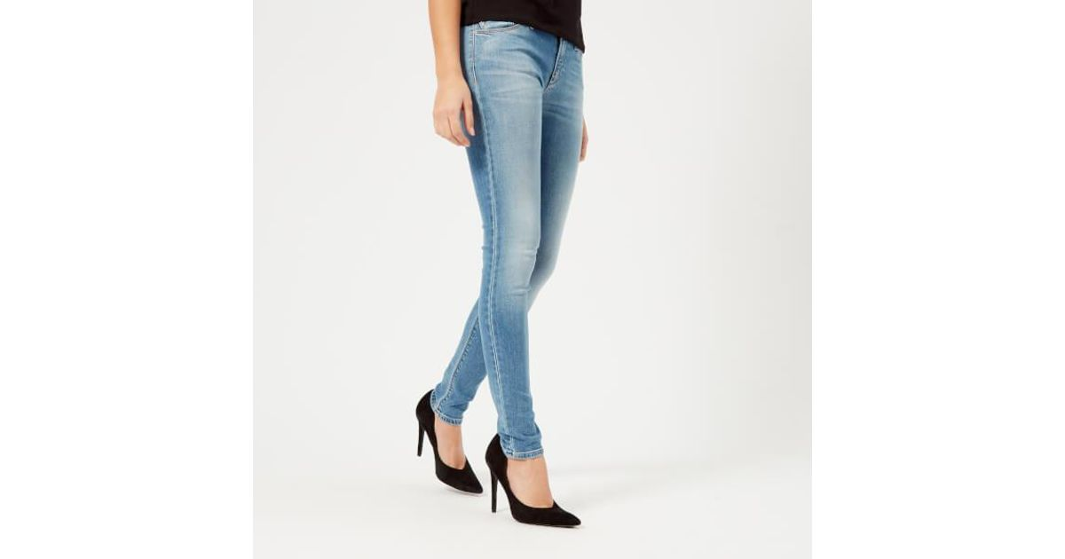 14aef72b Emporio Armani - Blue Women's Skinny Jeans - Lyst