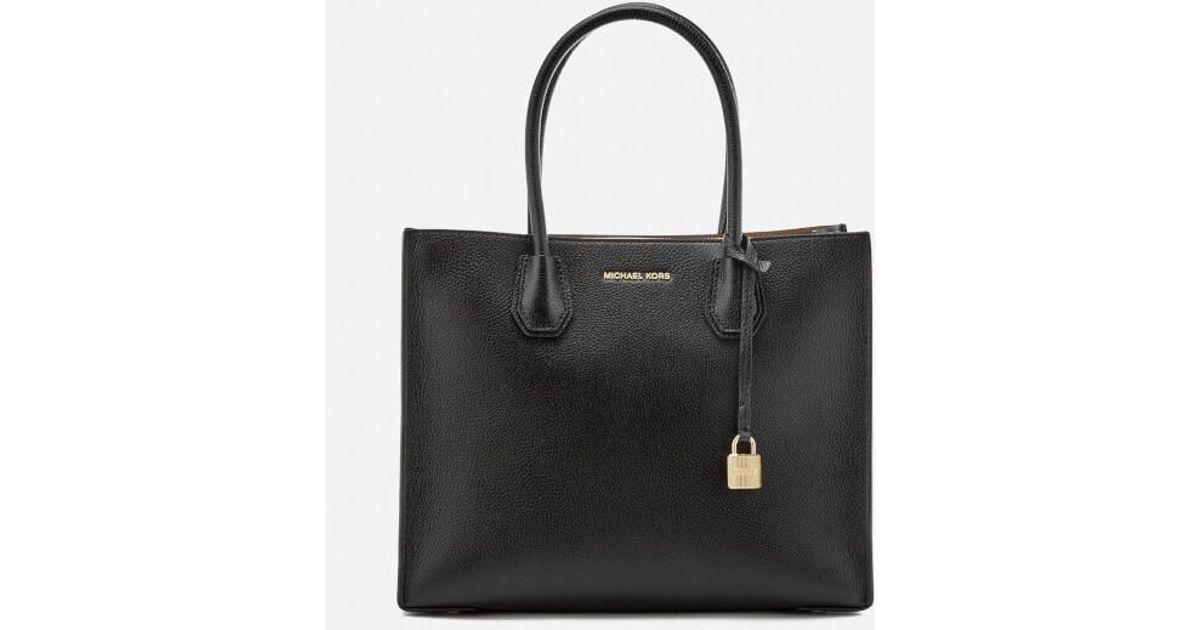 Lyst - MICHAEL Michael Kors Women s Mercer Large Messenger Tote Bag in Black 3bd71bef34981