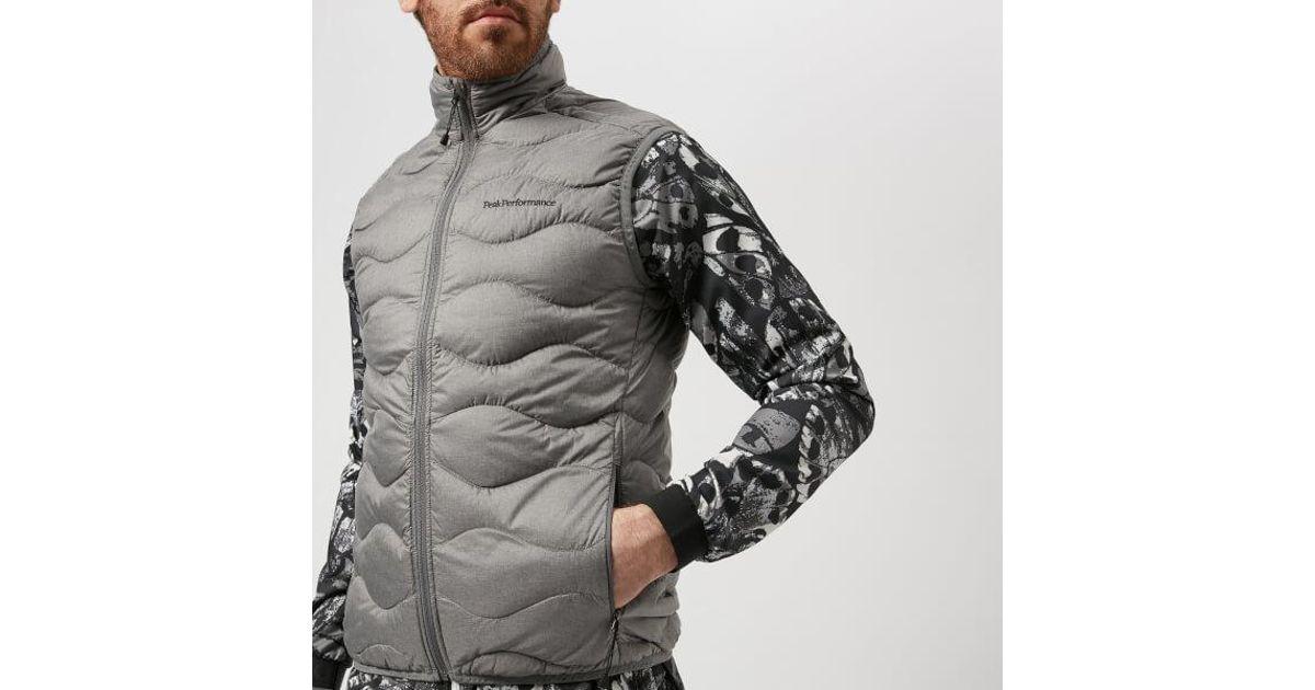 Peak Performance Helium Vest in Gray for Men - Lyst de04b41b50