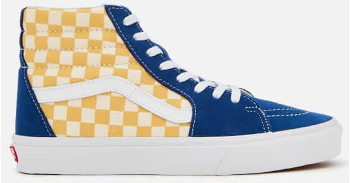 e85b9b37255d2d Vans Men s Sk8hi Bmx Checkerboard Trainers in Blue for Men - Lyst