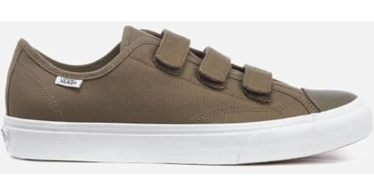 fd25e371f1 Lyst - Vans Men s Prison Issue Canvas Triple Velcro Trainers in Brown for  Men