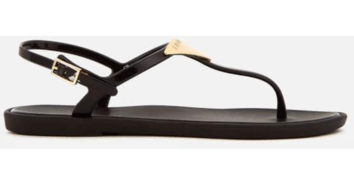 2da75b01e5da8a Lyst - Emporio Armani Women s Coqui Soft Jelly Sandals in Black