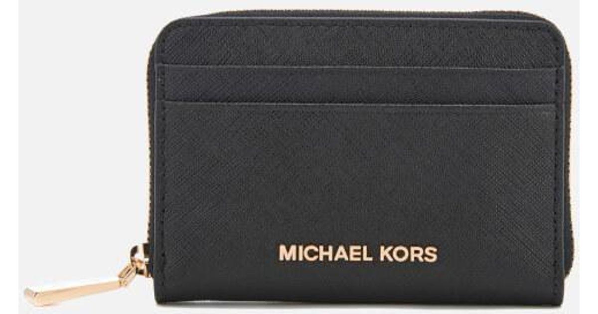 01a98d1ceba762 MICHAEL Michael Kors Women's Money Pieces Zip Around Card Case in Black -  Lyst
