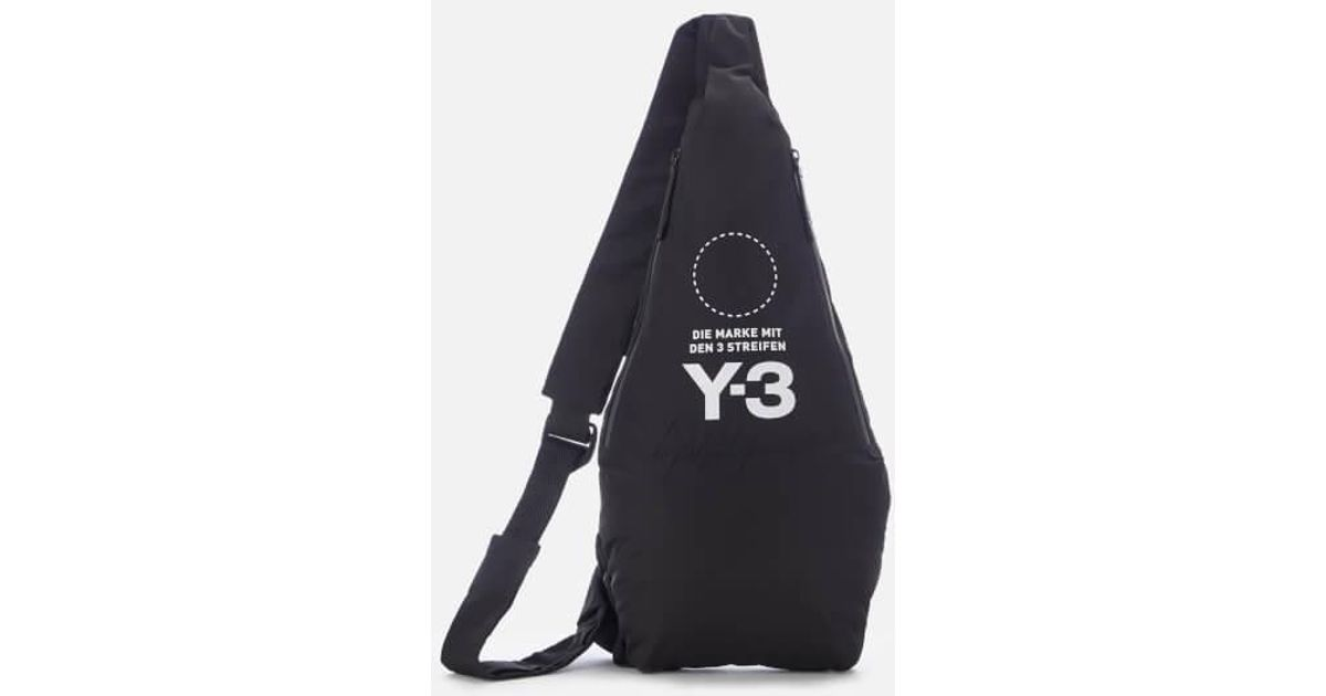 Lyst - Y-3 Y3 Men s Yohji Messenger Bag in Black for Men 5d0f69d1abece