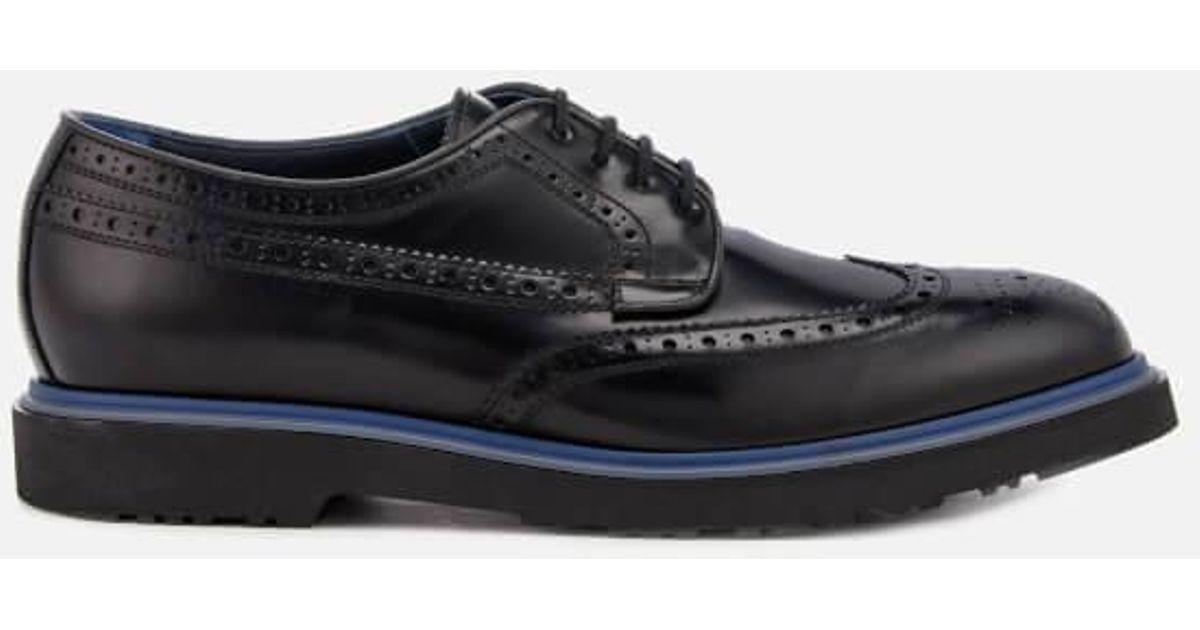 Paul Smith Men's Crispen High Shine Leather Stack Sole Brogues - - UK 10 uMo4E