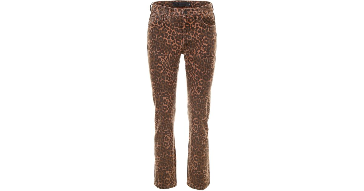 4e4cd687d2a2 Lyst - Alexander Wang Leopard Print Jeans in Brown - Save 19%