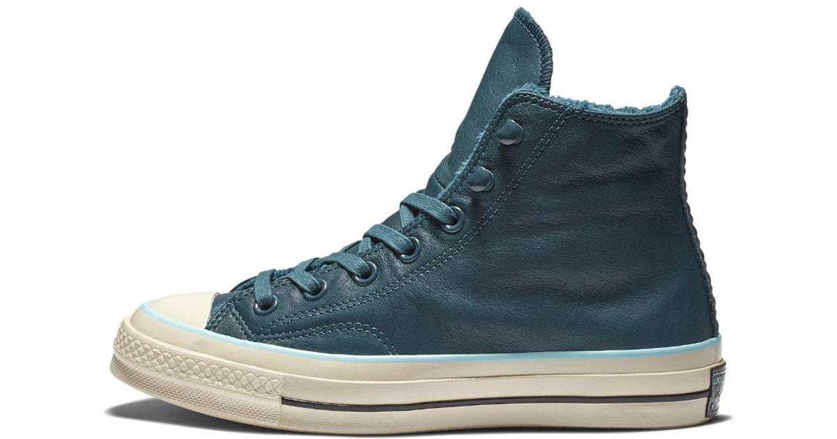 Lyst - Converse Chuck 70 Street Warmer Leather High Top in Blue b345f4099