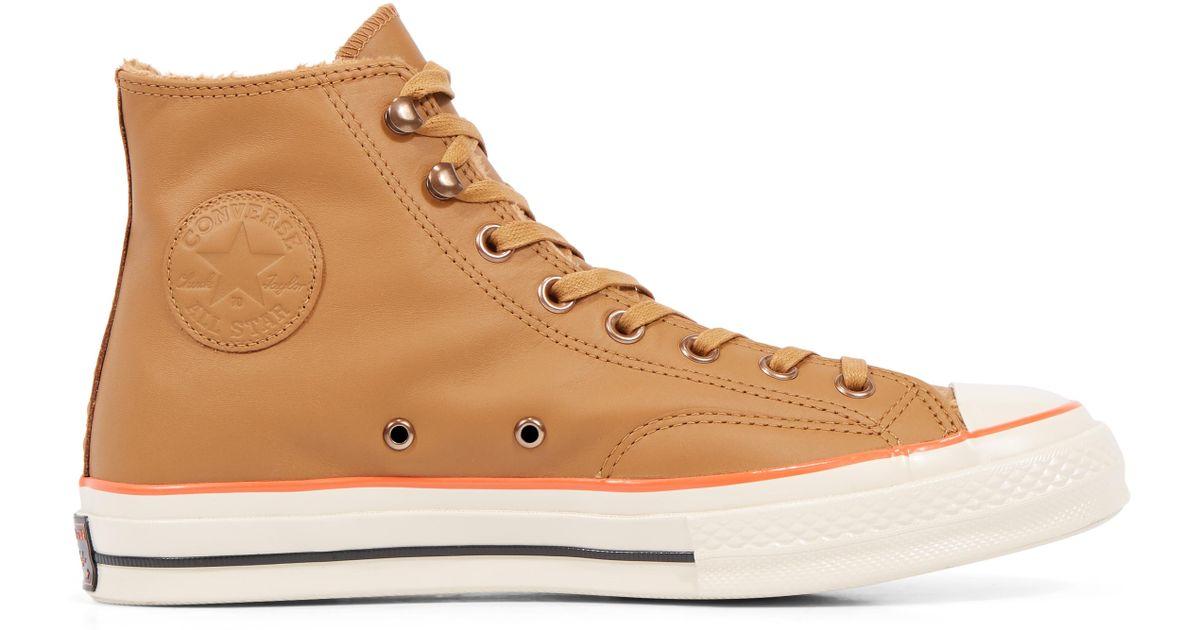 a74e7f4a459f Converse Chuck 70 Street Warmer Leather High Top in Blue - Lyst