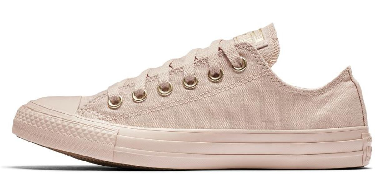 52c231c6396c Lyst - Converse Chuck Taylor All Star Mono Glam Low Top Women s Shoe in Pink