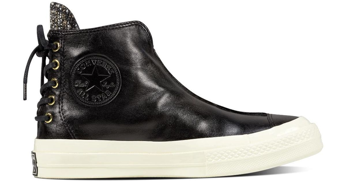 5b07dc92c390ce Converse Chuck Taylor All Star  70 Leather And Shimmer Punk Boot in Black  for Men - Lyst