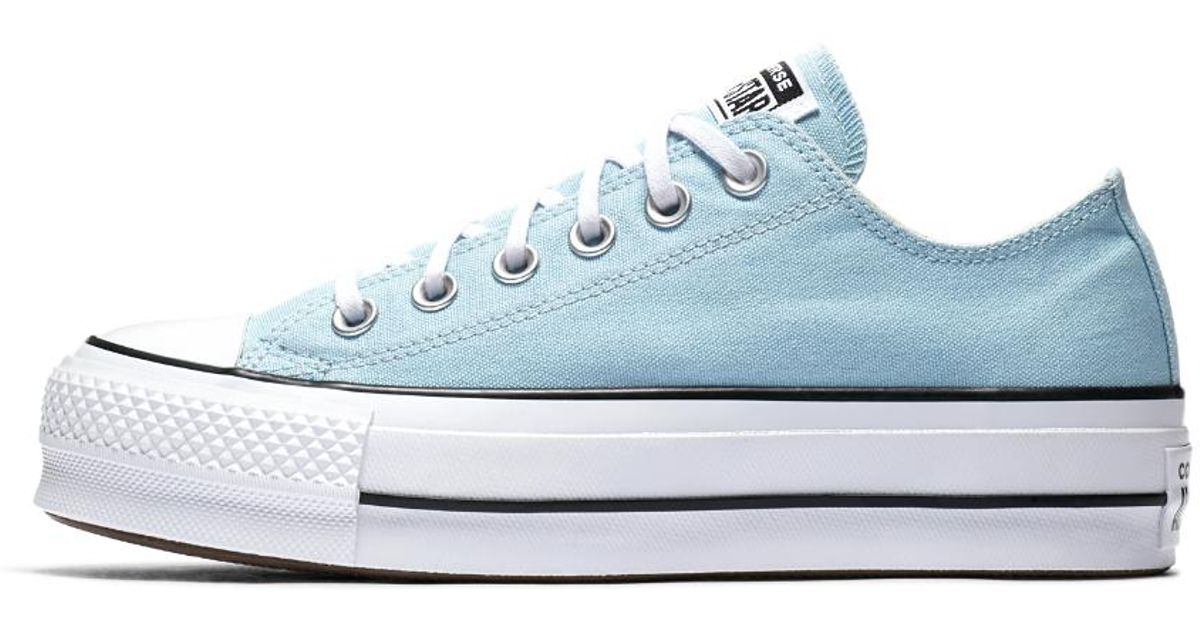 Lyst - Converse Chuck Taylor All Star Lift Canvas Low Top Women s Shoe in  Blue f723c252a